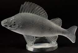 Lalique French Crystal PERCHE Fish Mascot Figurine
