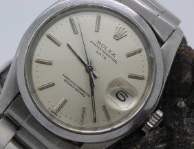 Mens Vintage Rolex Stainless Steel Datejust Watch