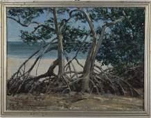 Horace Brown Mangroves 1946 Oil Board Painting