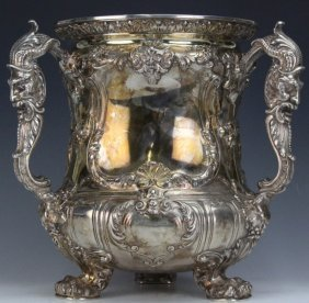 Gorham Sterling Silver Three Handle Loving Cup