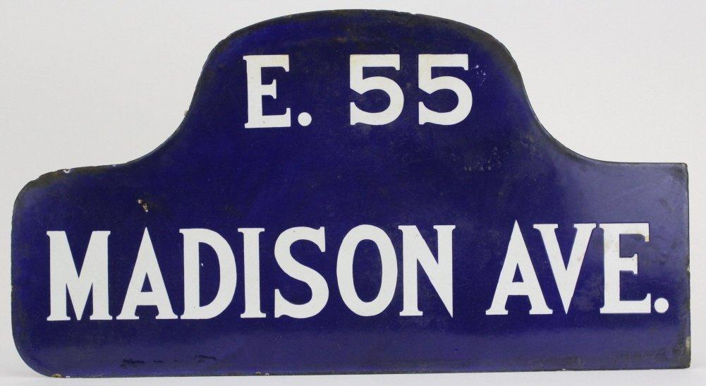 RARE New York City Madison Ave Enameled NYC Street Sign