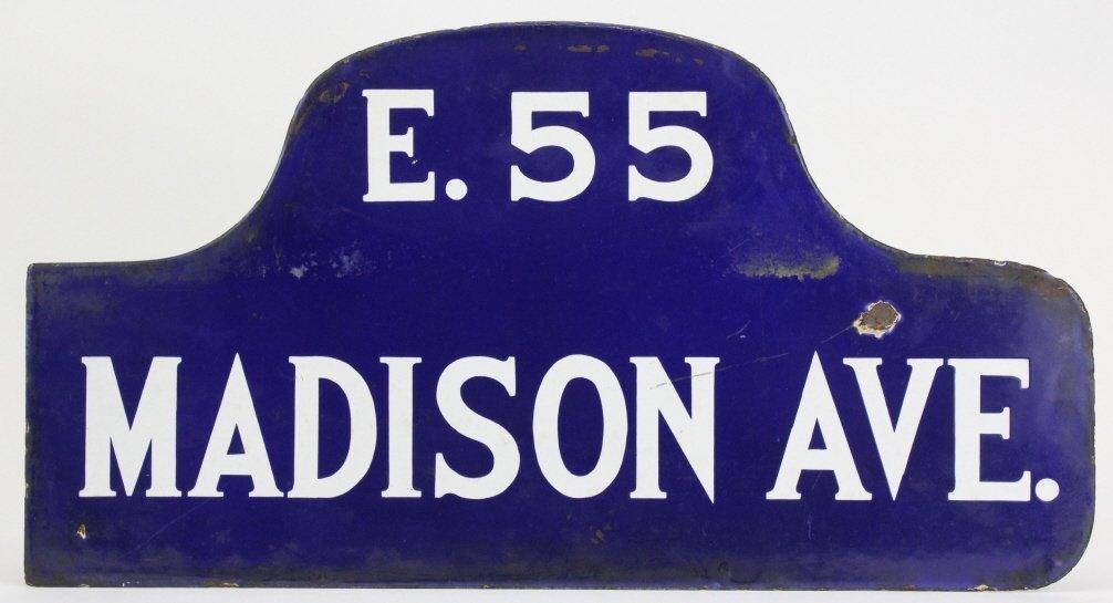 RARE New York City Madison Ave Enameled NYC Street Sign - 4