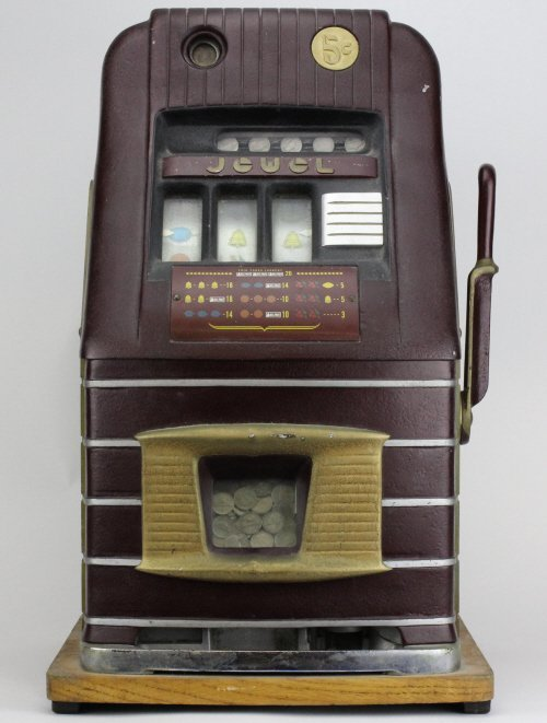 1940's Mills JEWEL 5 cent Table Top Slot Machine