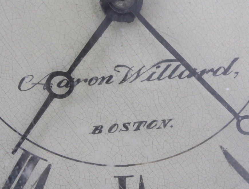 Aaron Willard Boston Reverse Ship Painting Banjo Clock - 5