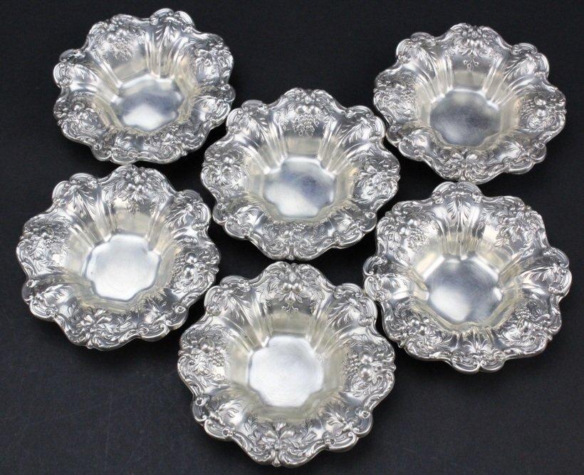 6 Reed & Barton Francis I Sterling Silver Nut Dish
