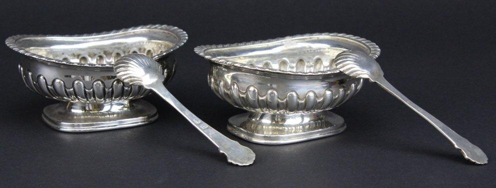 PAIR Georgian 18th Century Sterling Silver Master Salts