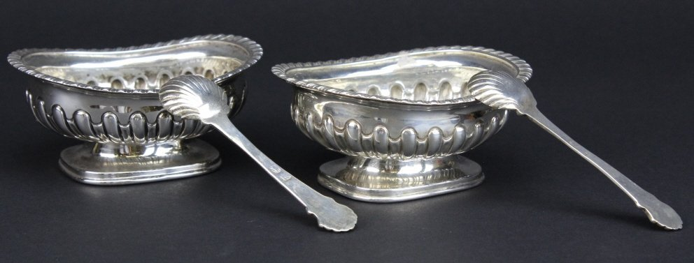 PAIR Georgian 18th Century Sterling Silver Master Salts