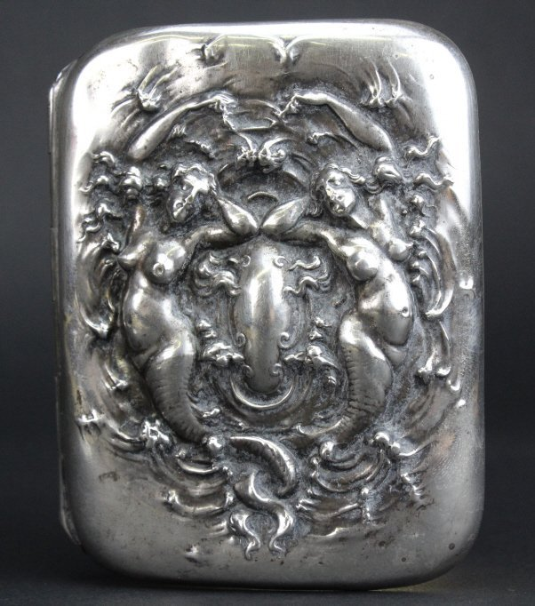 Unger Brothers Sterling Silver Mermaid Card Case