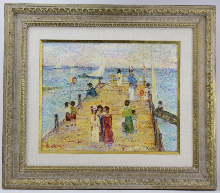Harry Somers (1922-) Germany Oil Painting LISTED