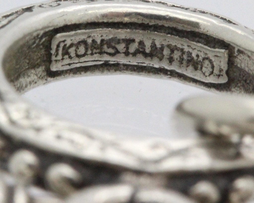Konstantino 18k Gold & Silver Cross Diamond Bracelet - 10
