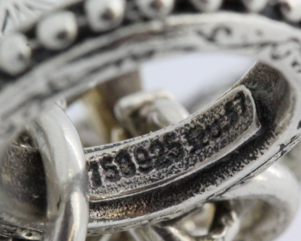 Konstantino 18k Gold & Silver Cross Diamond Bracelet - 9