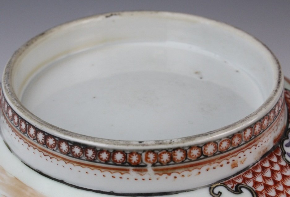 Antique Chinese Rose Mandarin Porcelain Punch Bowl - 10