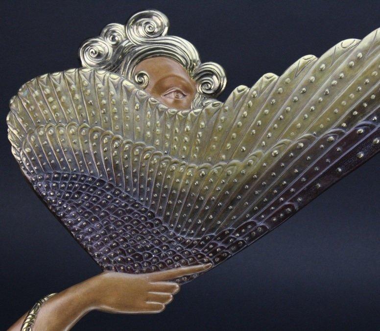 ERTE COQUETTE Deco Bronze Sculptural Vanity Mirror - 2