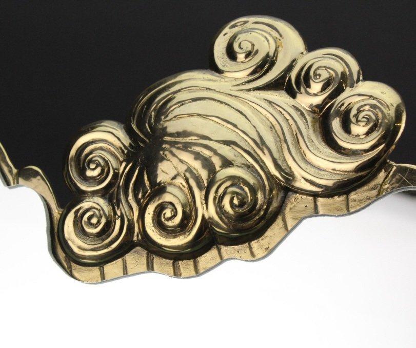 ERTE COQUETTE Deco Bronze Sculptural Vanity Mirror - 5