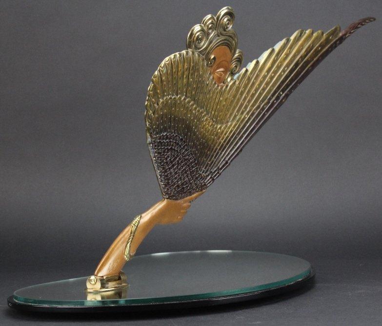 ERTE COQUETTE Deco Bronze Sculptural Vanity Mirror - 9