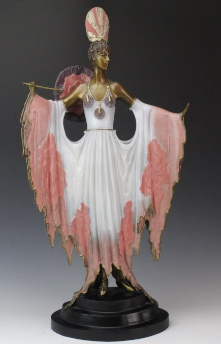 ERTE L/E TWILIGHT Pink Lady Deco Bronze Sculpture