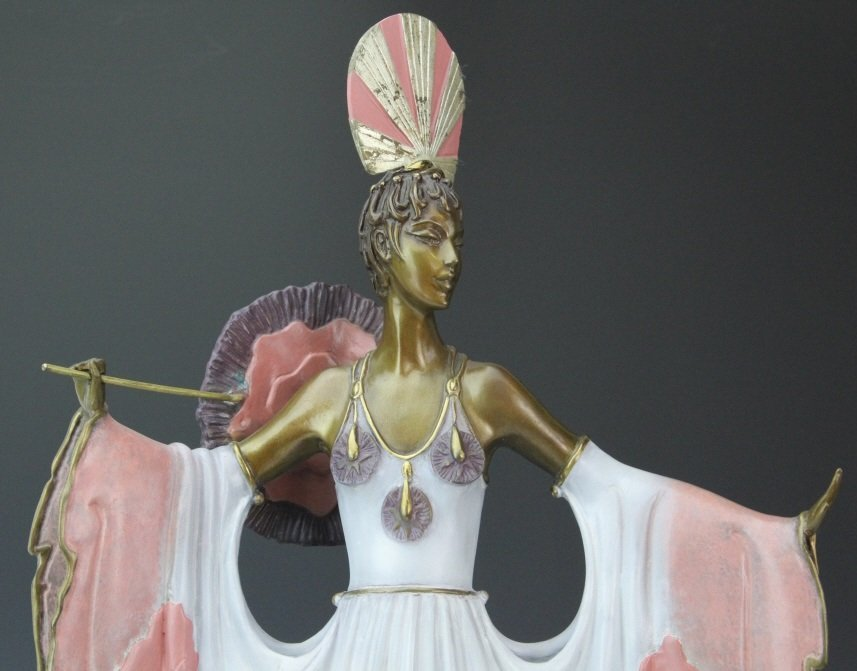 ERTE L/E TWILIGHT Pink Lady Deco Bronze Sculpture - 2