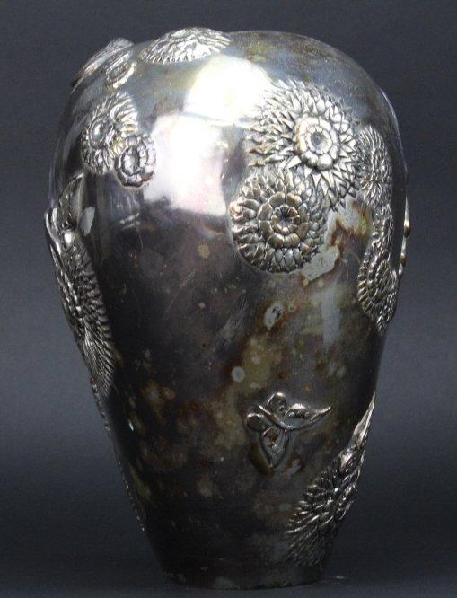 ERTE SHE LOVES ME NOT Silvered Bronze Deco Vase - 5