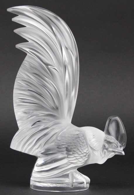 LALIQUE France Crystal Coq Nain Rooster Figurine - 3