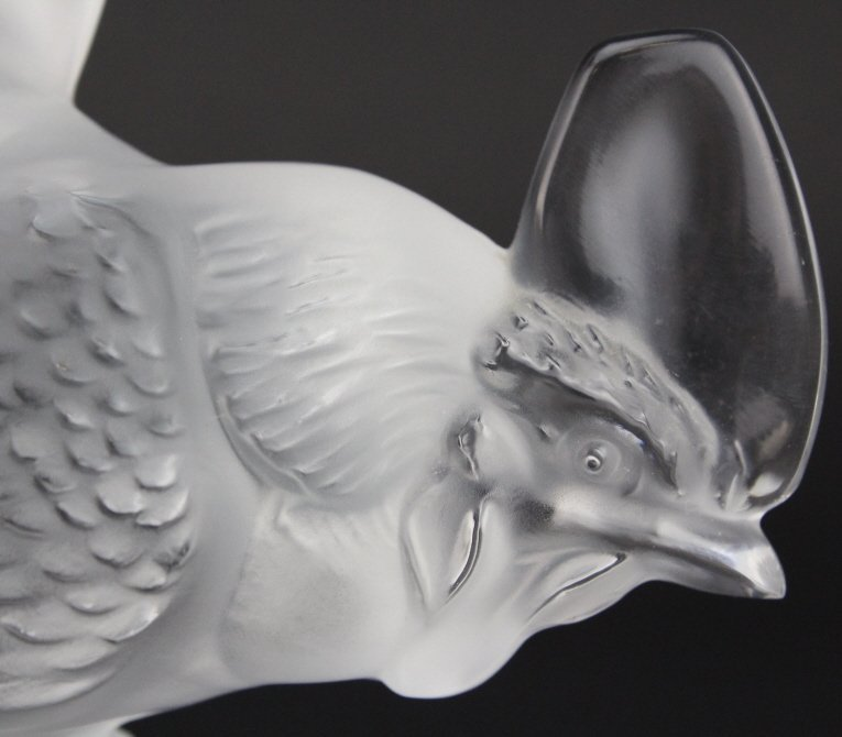 LALIQUE France Crystal Coq Nain Rooster Figurine - 4