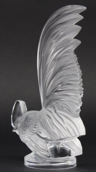 LALIQUE France Crystal Coq Nain Rooster Figurine - 5