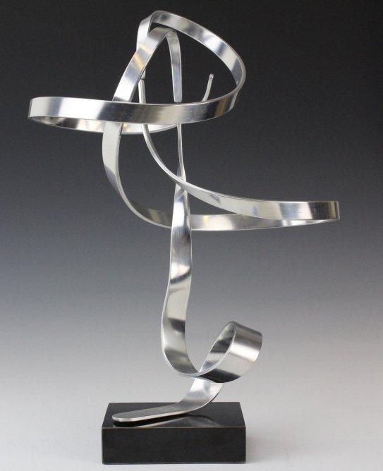 """Charles Taylor Signed Modernist 14.5"""" Kinetic Sculpture"""