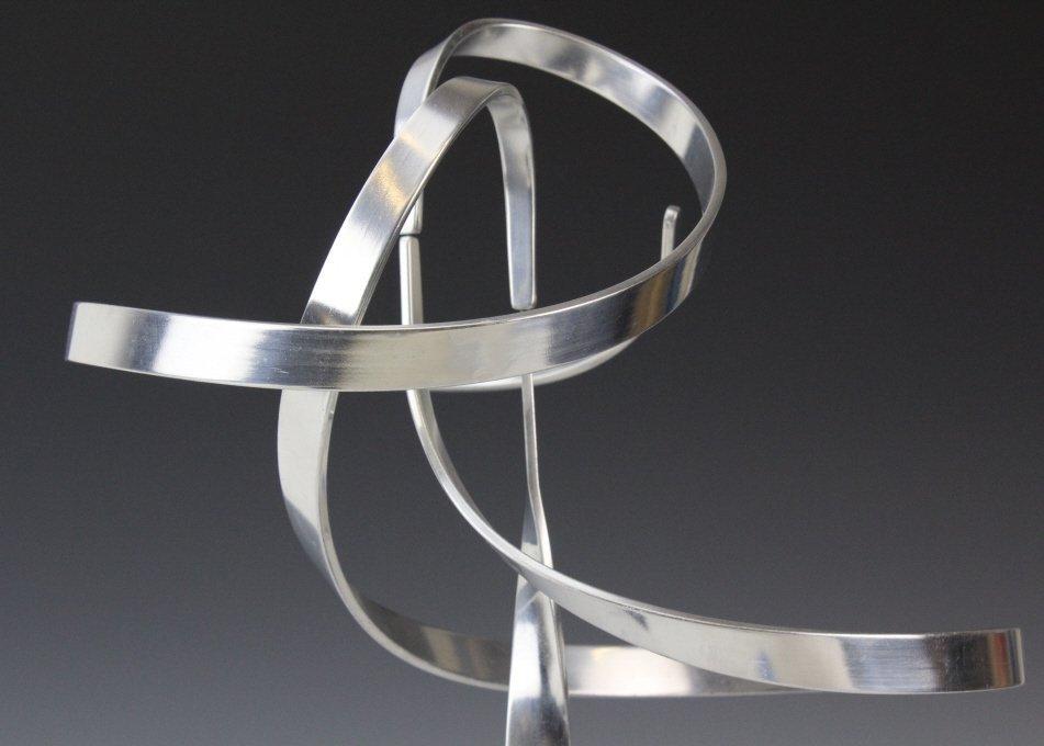 """Charles Taylor Signed Modernist 14.5"""" Kinetic Sculpture - 2"""