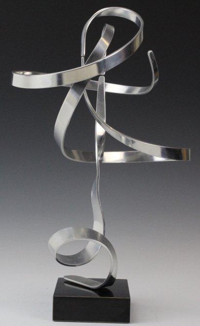 """Charles Taylor Signed Modernist 14.5"""" Kinetic Sculpture - 3"""