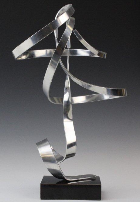 """Charles Taylor Signed Modernist 14.5"""" Kinetic Sculpture - 4"""