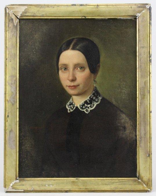 ANTQUE Signed MELCHIOR PERONARD Portrait Painting