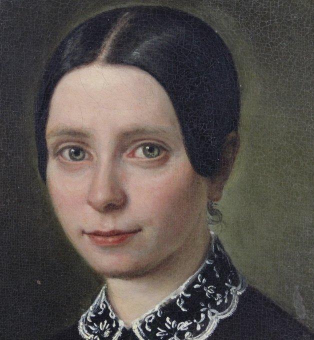 ANTQUE Signed MELCHIOR PERONARD Portrait Painting - 2