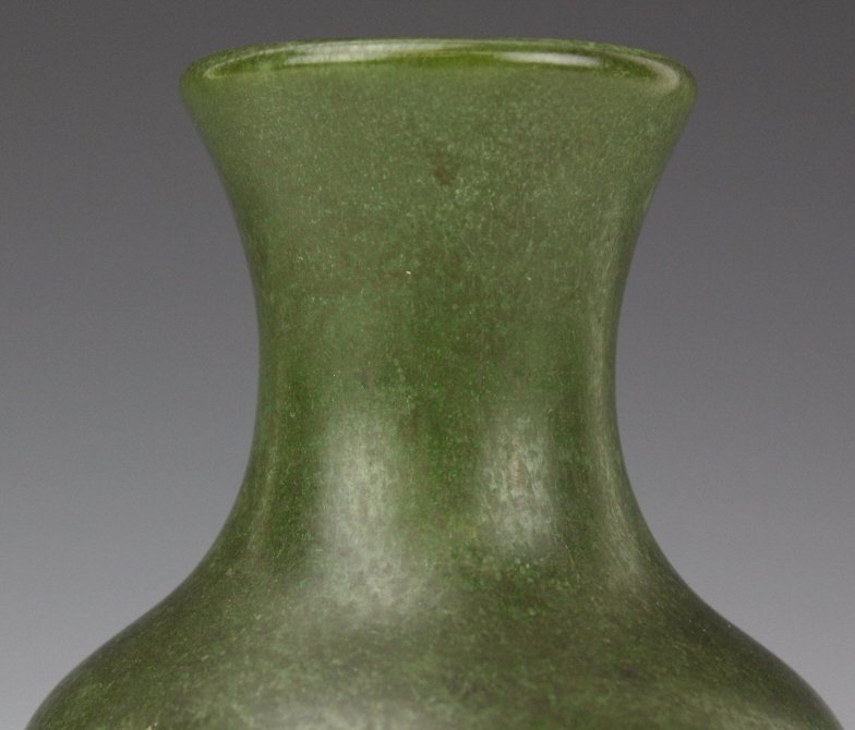 Hampshire Pottery Arts & Crafts Matte Green Vase - 2
