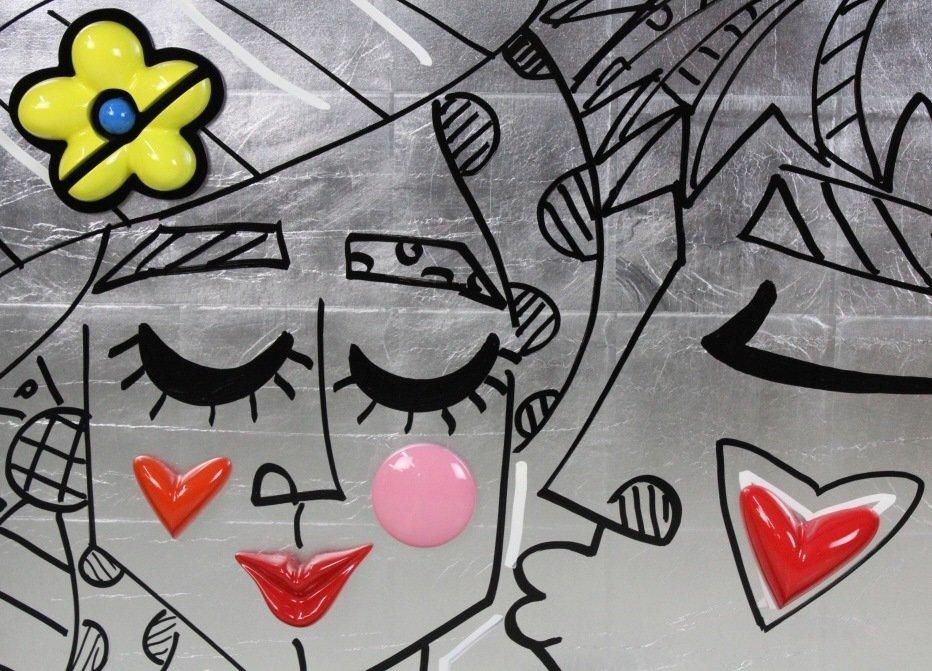 Romero Britto ORIGINAL BESA Mixed Media Painting - 2