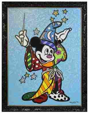 Romero Britto FANTASIA Mickey Mouse 80x60 Painting COA