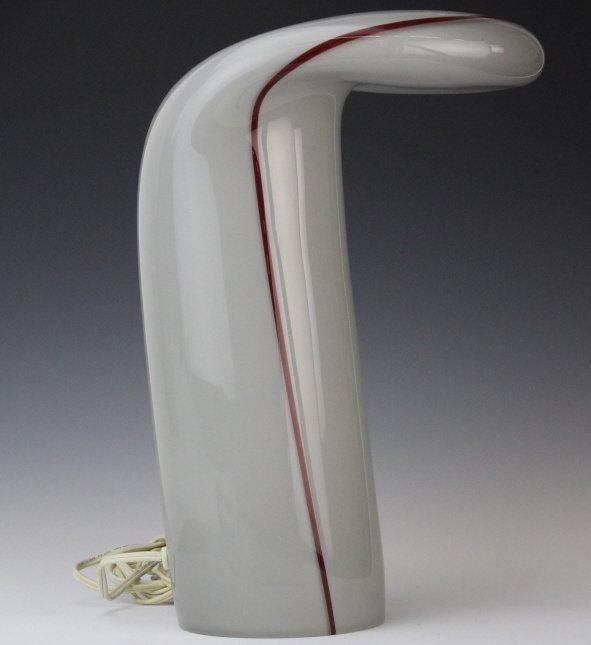 Murano Italian Mid Century Modern Art Glass Lamp - 6