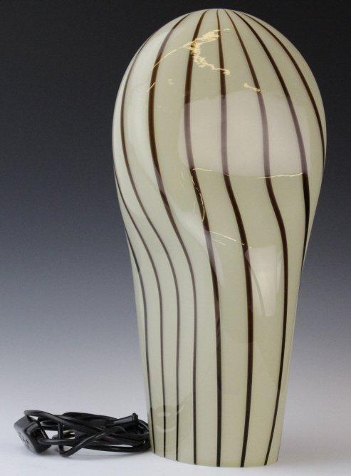 Murano Italian Art Glass Mid Century Modern Lamp