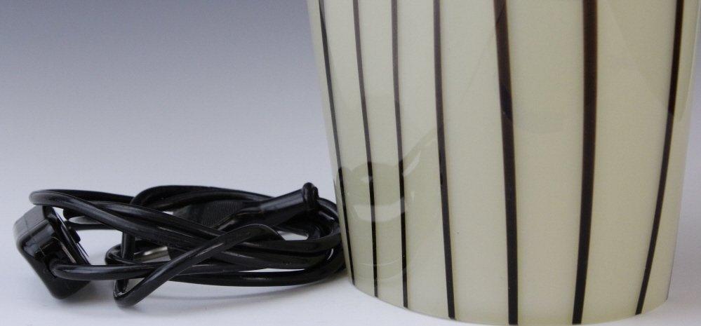 Murano Italian Art Glass Mid Century Modern Lamp - 2