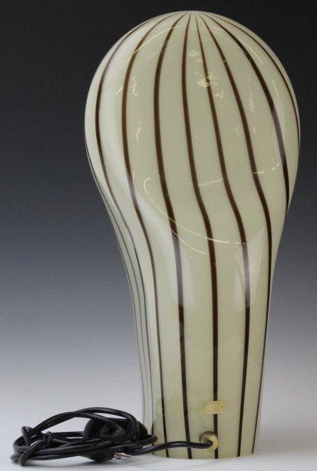 Murano Italian Art Glass Mid Century Modern Lamp - 4