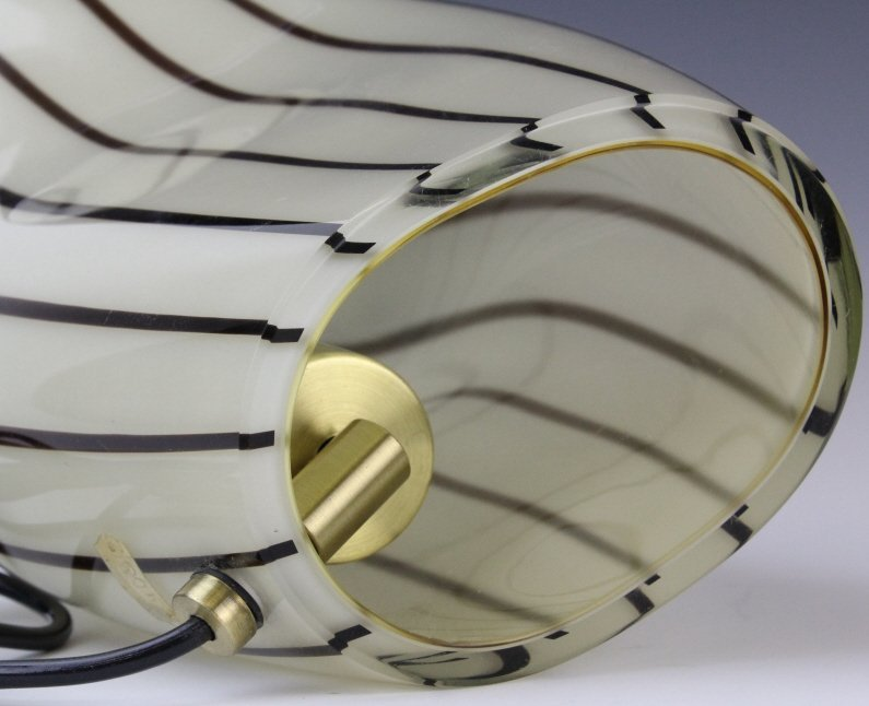 Murano Italian Art Glass Mid Century Modern Lamp - 7