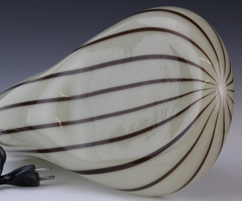Murano Italian Art Glass Mid Century Modern Lamp - 9