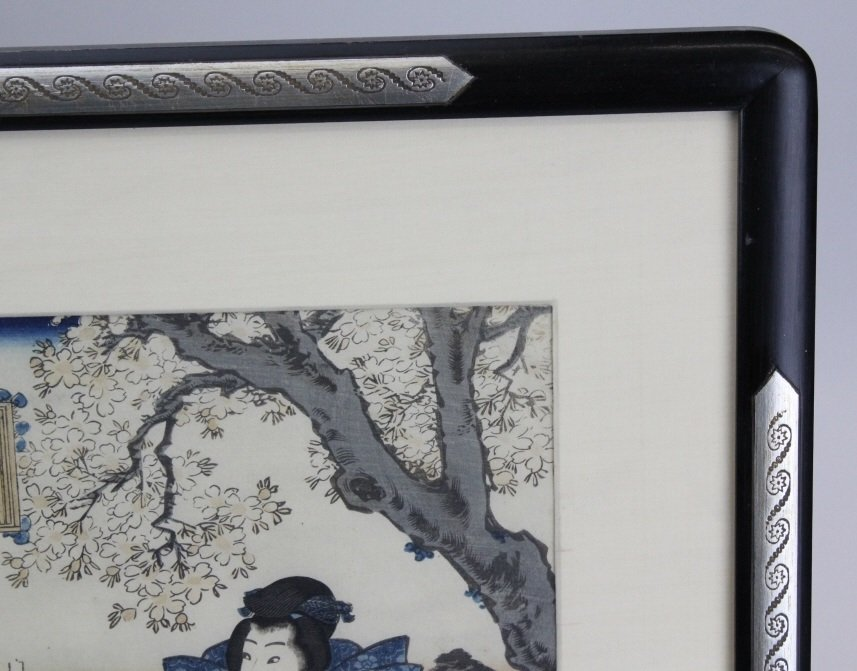 Japanese Woodblock Triptych by Utagawa Kunisada - 2