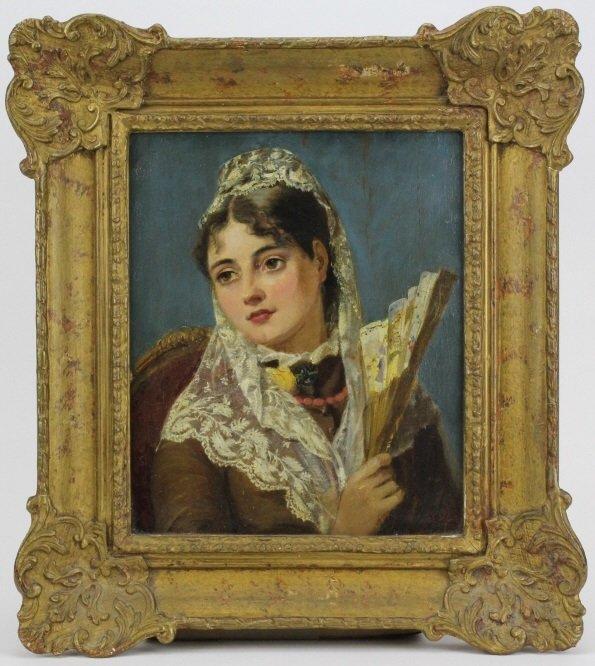 JOHN PHILLIP Spanish Girl Portrait Oil Painting