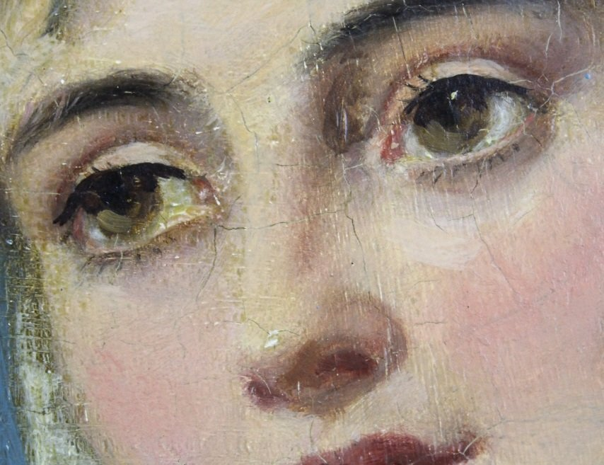 JOHN PHILLIP Spanish Girl Portrait Oil Painting - 6
