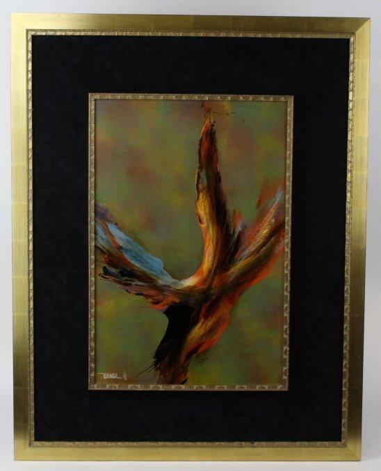LEONARDO NIERMAN Abstract Landscape Oil Painting LISTED