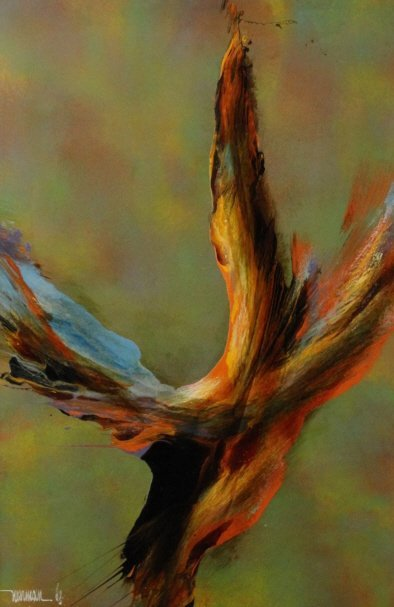LEONARDO NIERMAN Abstract Landscape Oil Painting LISTED - 2