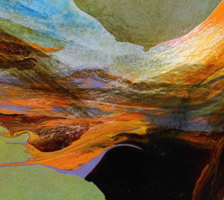 LEONARDO NIERMAN Abstract Landscape Oil Painting LISTED - 4