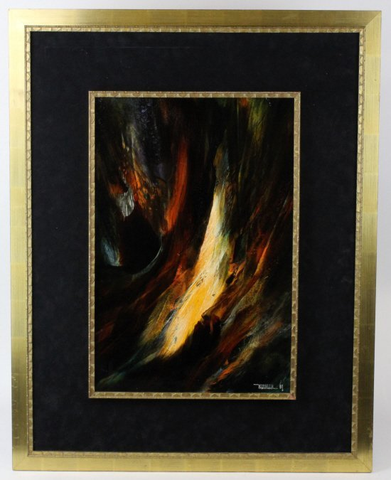 LEONARDO NIERMAN Abstract Landscape Oil Painting LISTED