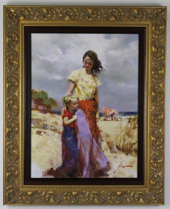 Giuseppe Pino Family Retreat L/E Giclee On Canvas