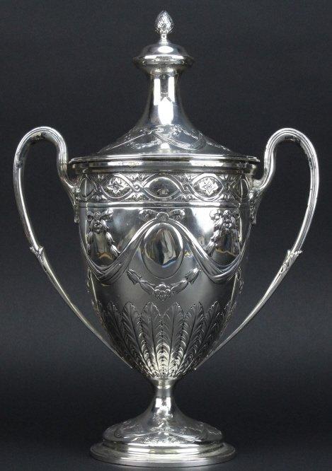 Antique Sterling Silver Belle Epoque Trophy Urn 1587g