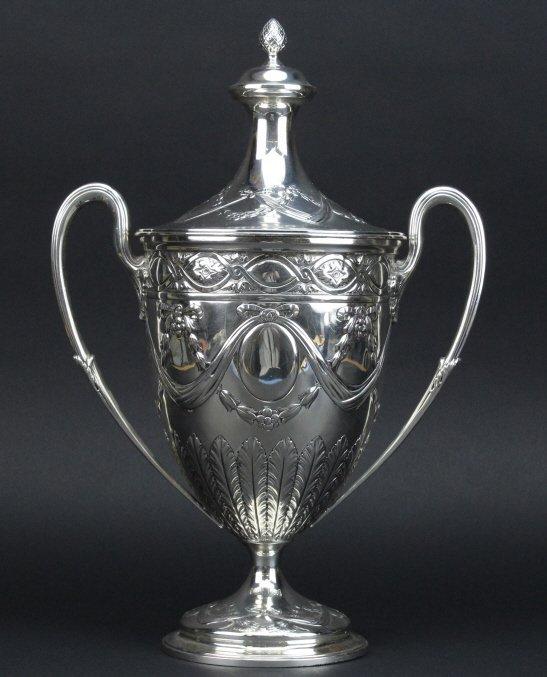 Antique Sterling Silver Belle Epoque Trophy Urn 1587g - 4